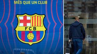 Escuado del Barcelona y Ronald Koeman.