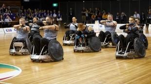 Equipo de rugby en silla de ruedas de Nueva Zelanda.