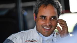 Juan Pablo Montoya, antes de una carrera.