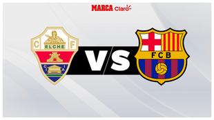 Elche vs Barcelona, ver en vivo y en directo.
