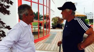 Reinaldo Rueda y Carlo Ancelotti, en un encuentro cuando el italiano...