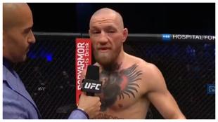 McGregor, nada más perder ante Poirier