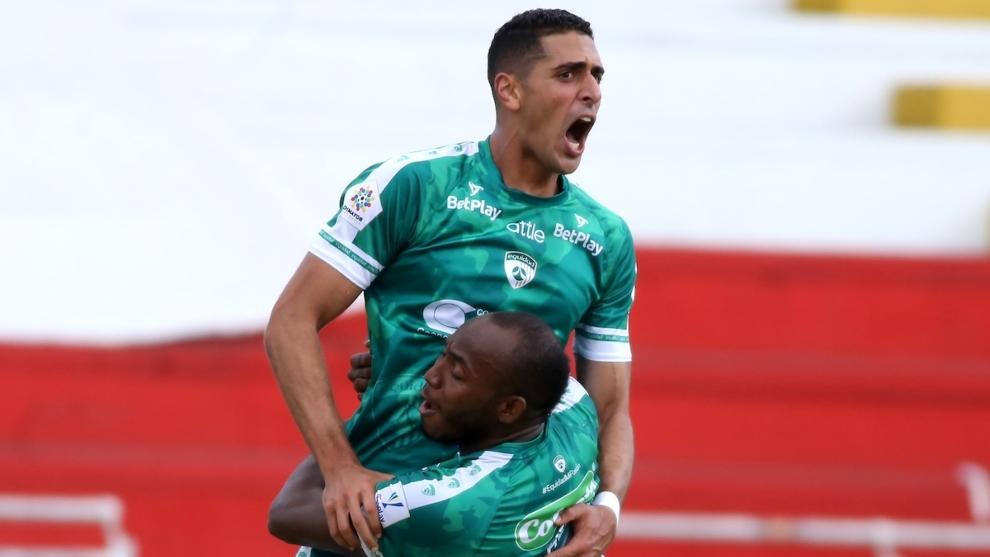 Pablo Sabbag celebra su gol contra Nacional.