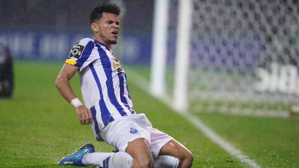 Luis Díaz celebra el gol contra Rio Ave.