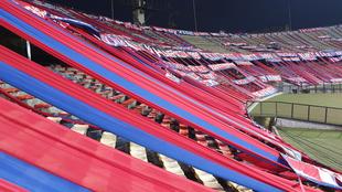 Un colorido del DIM ante Millonarios.