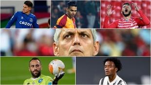 Collage de los jugadores de la Selección Colombia lesionados y...