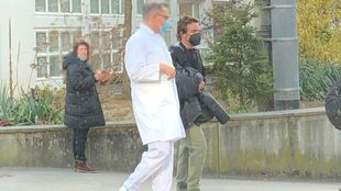 Alonso, tras salir del hospital.