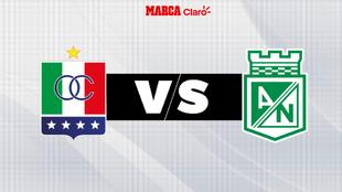 Once Caldas vs Atlético Nacional, en directo el fútbol colombiano.