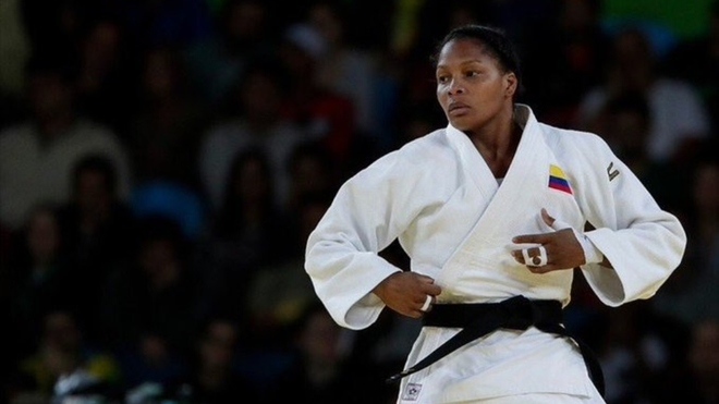 Yuri Alvear, judoca colombiana.