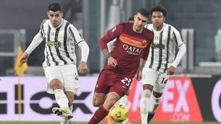 Morata dispara en presencia de Mancini en un Juventus vs Roma