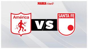 América recibe a Independiente Santa Fe.