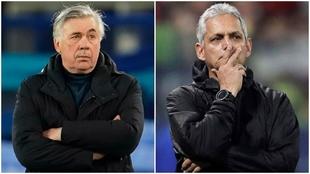 Collage de Carlo Ancelotti y Reinaldo Rueda.