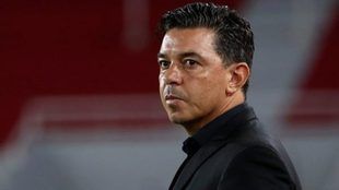 Marcelo Gallardo, en un partido con River