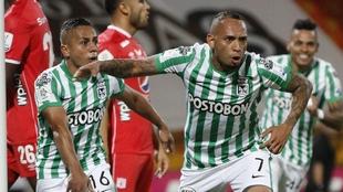La felicidad de su gol que ponía arriba en el marcador a Nacional.