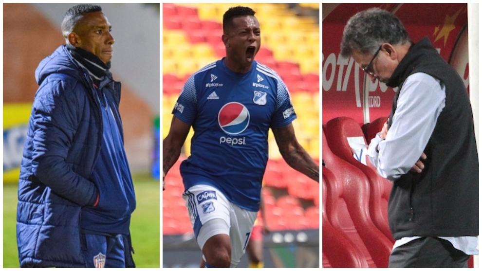 Collage de Amaranto Perea, Fredy Guarín y Juan Carlos Osorio.