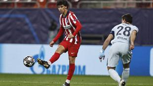 Joao Féliz, durante el partido contra el Chelsea.