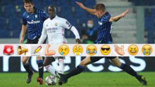 Mendy le dio la victoria al Madrid en el partido ante el Atalanta.
