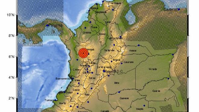 Fuerte temblor sacude a Medellín