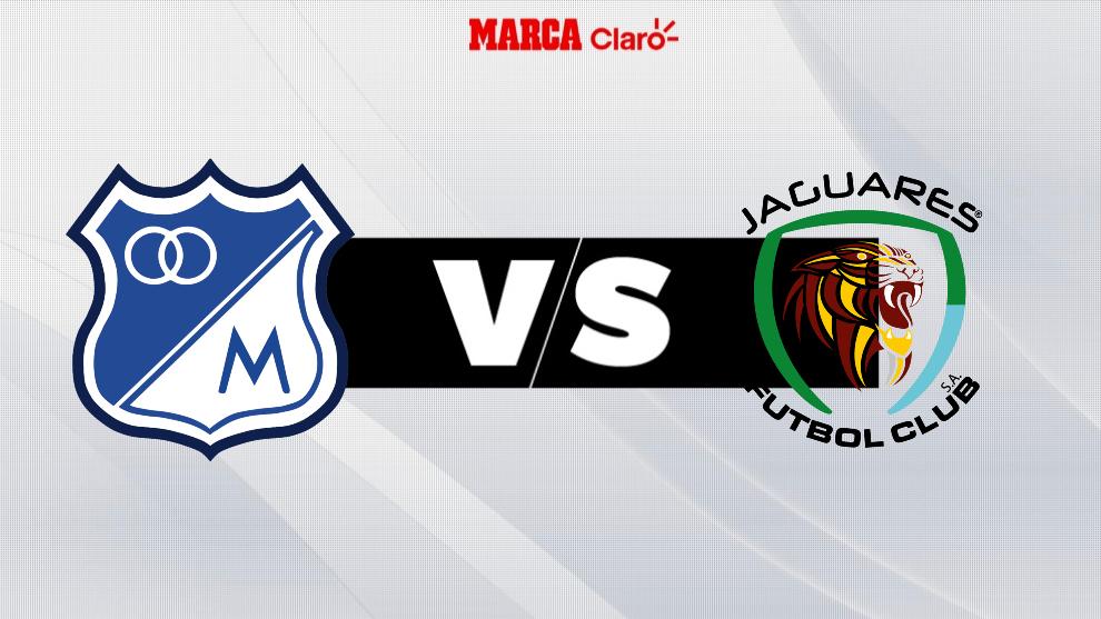 Millonarios vs Jaguares, en directo el fútbol colombiano.