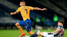 Richarlison, en competencia con el Everton.