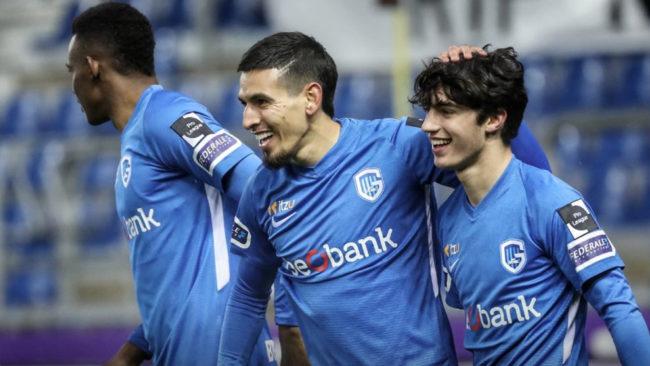 El primer gol de Daniel Muñoz con el Genk.
