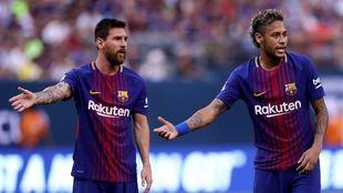 Messi y Neymar, durante su etapa en el Barcelona