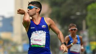 Diego Juan Pinzón, en competencia.