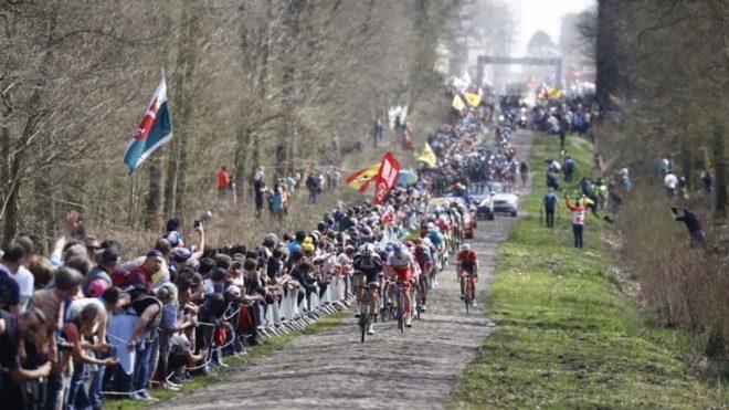 Una imagen de la París-Roubaix.