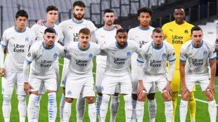 Un once del Olympique de Marsella en esta temporada.