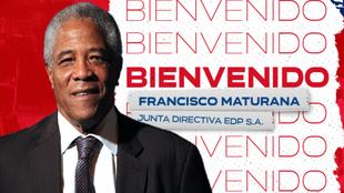 Póster de bienvenida del DIM para Francisco Maturana.