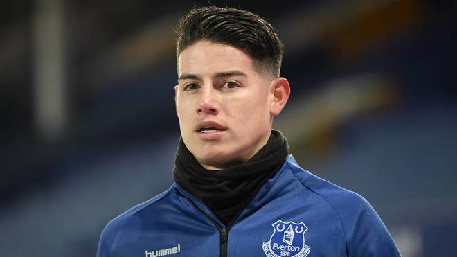 James Rodríguez, jugador del Everton.