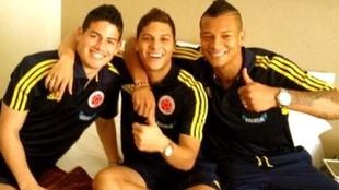 James Rodríguez, JuanFer Quintero y Fredy Guarín en la Selección...