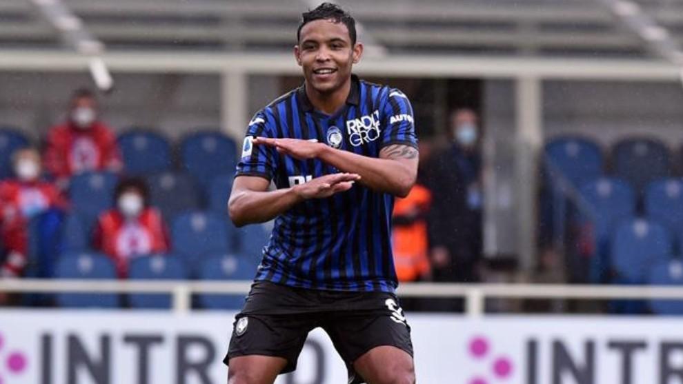 Luis Fernando Muriel celebra su primer gol ante el Udinese