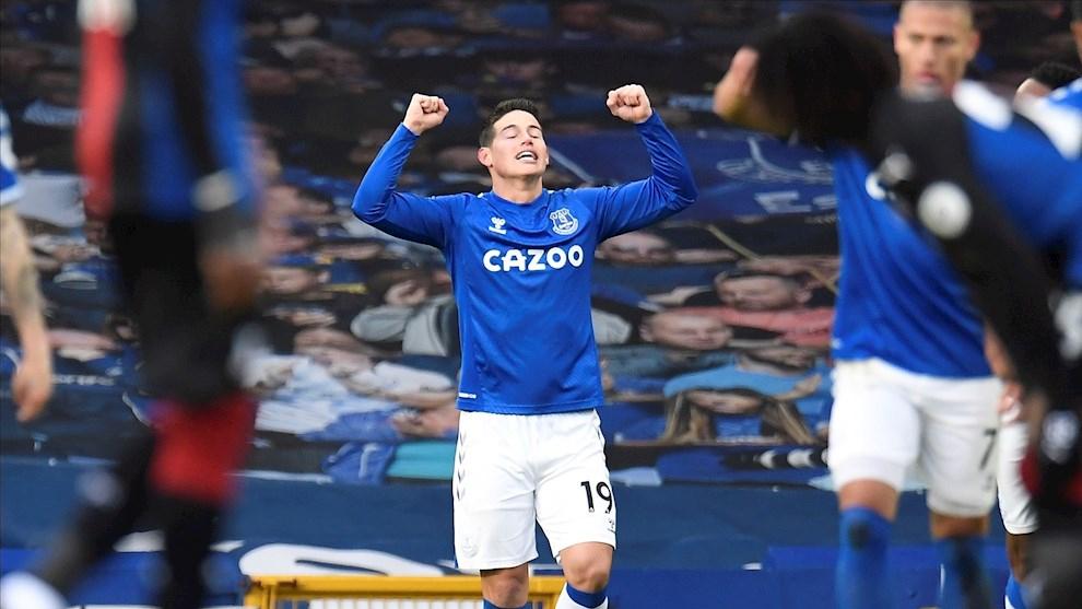 El gol de James Rodríguez ante Crystal Palace.