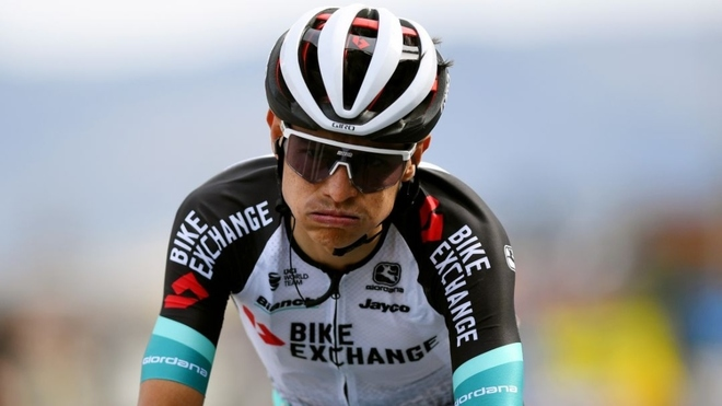 Esteban Chaves fue uno de los protagonistas de la cuarta etapa en al...