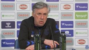 Carlo Ancelotti en conferencia de prensa.