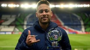 Neymar fue premiado como el mejor jugador del partido ante el Bayern.