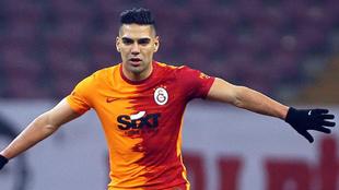 Falcao, durante un partido del Galatasaray.
