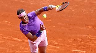 Rafael Nadal, durante el partido contra Dimitrov.