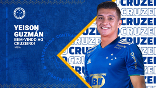 Póster de presentación de Yeison Guzmán en Cruzeiro
