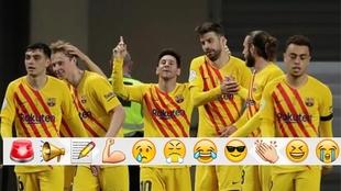 Messi celebra uno de sus goles