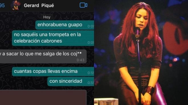 El Whatsapp de Piqué tiene la foto de Shakira.