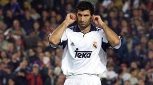 Luis Figo, en su etapa en el Real Madrid.