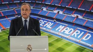 Florentino Pérez, en un acto del Real Madrid.