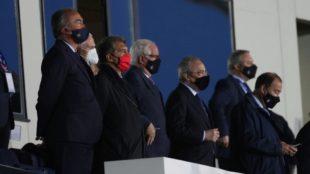 Los presidentes con Florentino Pérez a la cabeza.