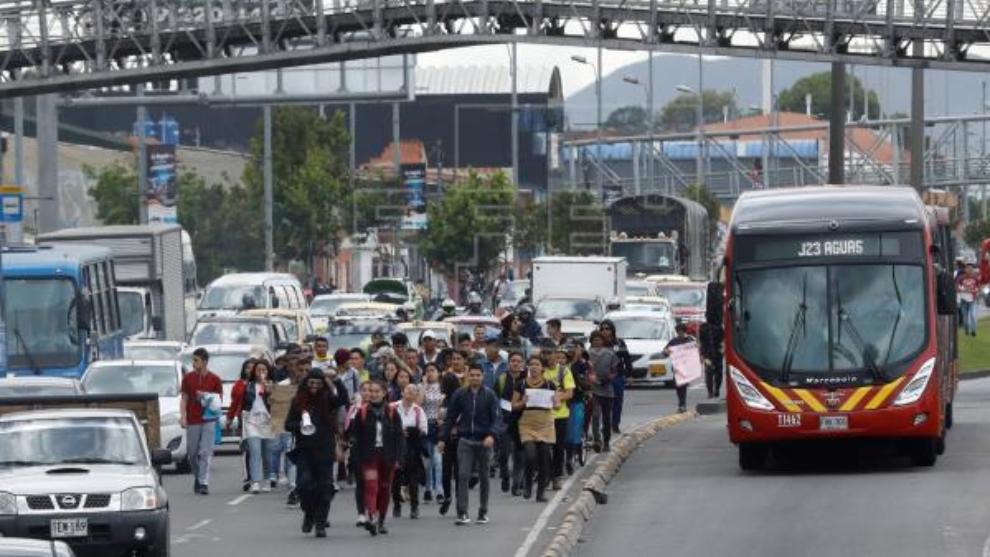 Toque de queda en Colombia tras el Paro Nacional.