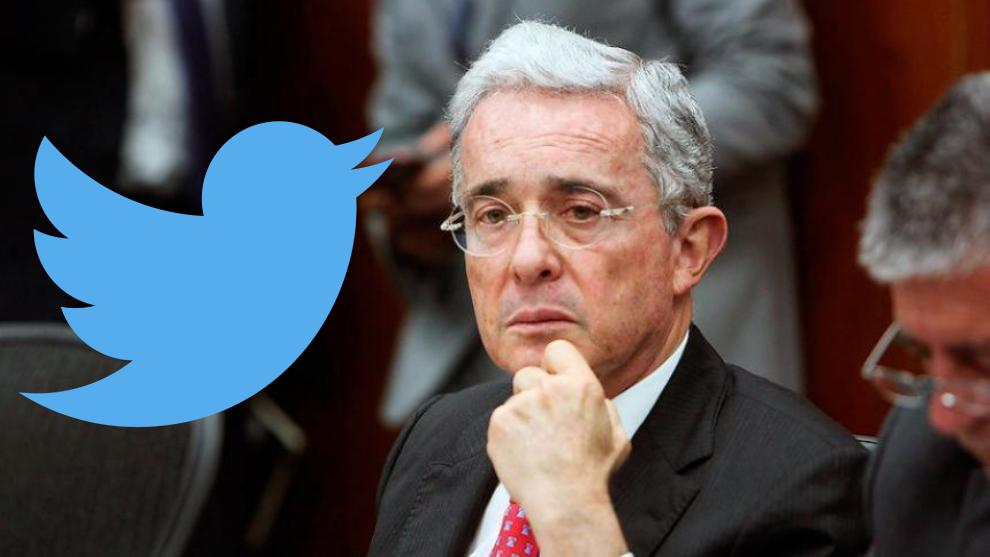 Tweet bloqueado de Álvaro Uribe