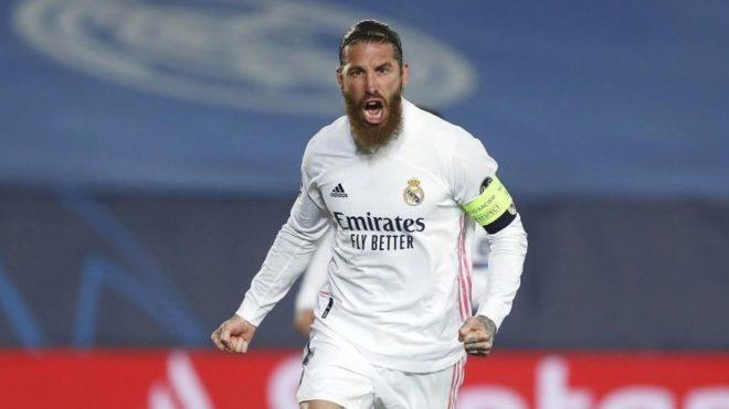 Sergio Ramos, durante un partido con el Real Madrid