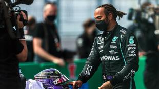 Hamilton, tras la clasificación en Portugal.