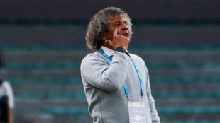 Alberto Gamero, durante un partido.